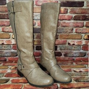 SO Faux Leather Tall Boots Size 9